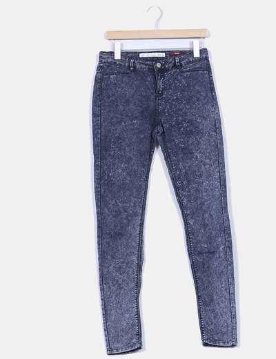 Leggings denim efecto desgastado Zara