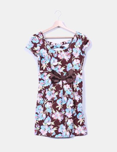 Vestido floral con lazo Lemon Fashion