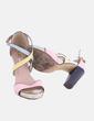 Sandalia de tacón rosa combinado Suiteblanco