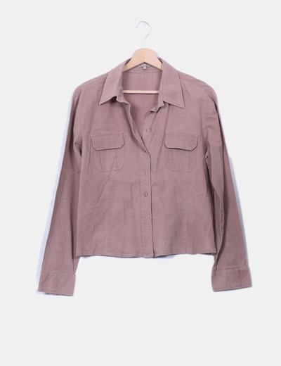 Camisa marrón manga larga Tex Woman