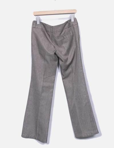 Pantalon de traje recto marron