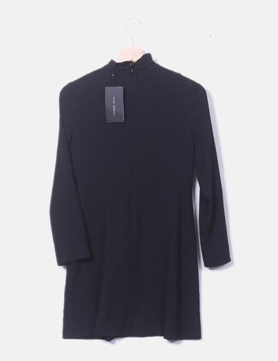 Altodescuento 68Micolet Zara Vestido Negro Cuello Fluido qSGpzMVU