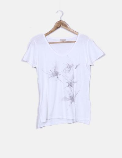T-shirt estampada em branco Trucco