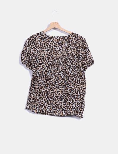 Blusa print leopardo