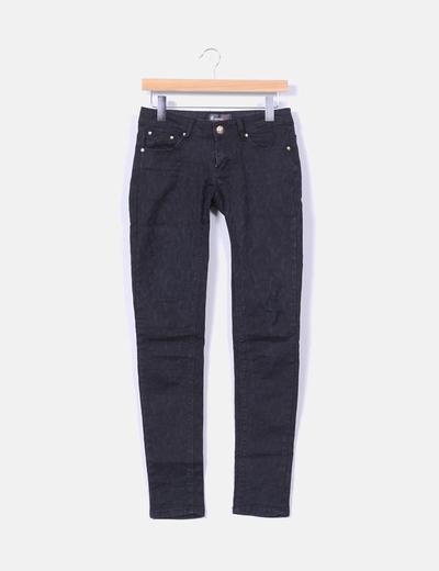 Pantalon noir texturé Monday
