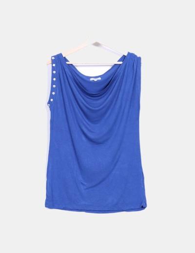 Camiseta azul con tachas Tex Woman