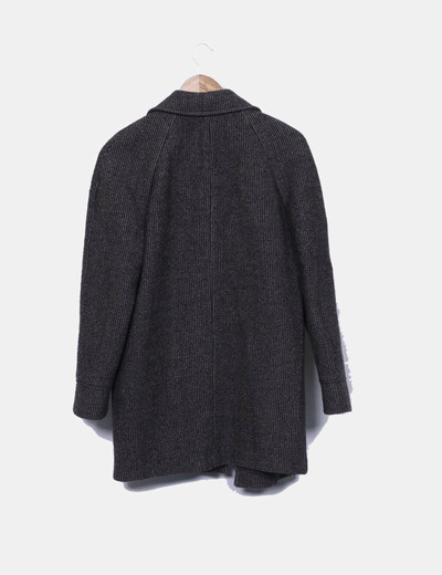 Abrigo lana espiga jaspeado