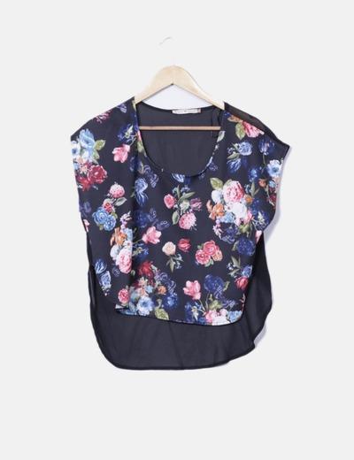 Blusa de manga corta estampado floral Inside