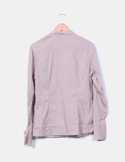 Camisa camel manga larga