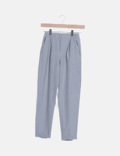 Pantalón chino gris de rayas