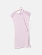 Vestido de punto rosa con encaje Promod