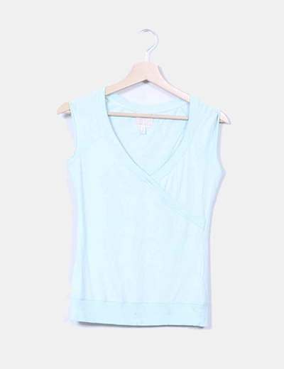 Top verde mint Bershka