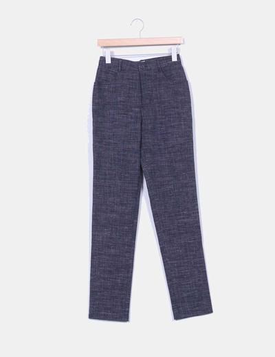 Pantalón capri gris marengo jaspeado Alba Conde