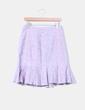 Falda midi tricolor texturizada con tablas Merletti