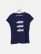 Camiseta azul manga corta NoName