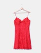 Vestido encaje rojo con pedrería BDBA