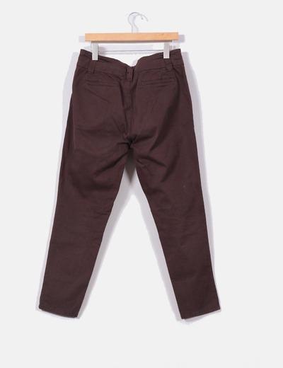a72e7d9c92 Stradivarius Pantalón de pinzas marrón chocolate (descuento 98%) - Micolet