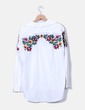 Camisa blanca bordado floral Zara