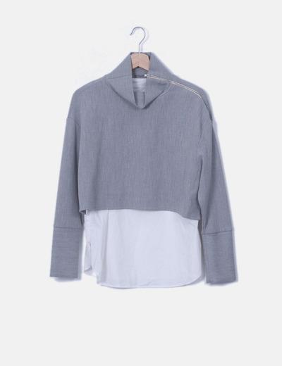 Jersey gris combinado