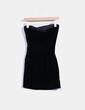 Vestido terciopelo negro palabra de honor Givenchy