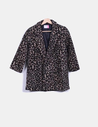 Blazer texturizada animal print Fashion Pills