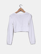 Torera blanca de manga larga Zara