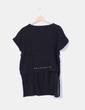 Camiseta negra asimétrica de manga corta Zara