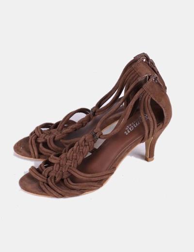 Sandalias tiras marrón oscuro Marypaz