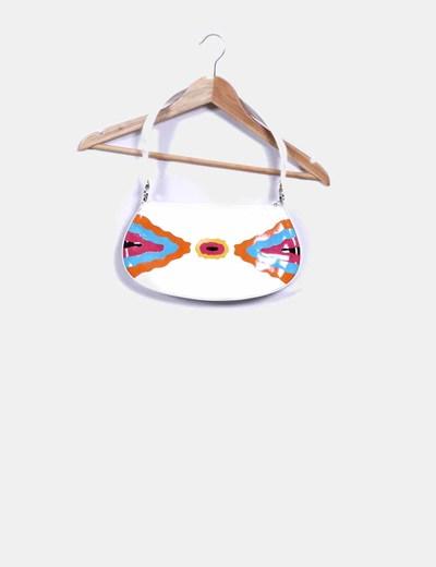 Bolso blanco con estampado multicolor Guy Laroche