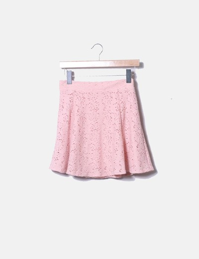 Falda rosa skater troquelada