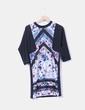 Vestido floral con manga fracesa Zara