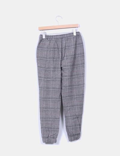 Pantalon de cuadros de lana