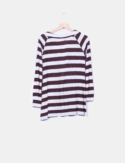 Jersey de rayas bicolor de manga larga