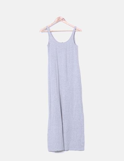 Vestido tirantes gris H&M