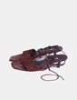 Sandalia marrón con abalorios CF