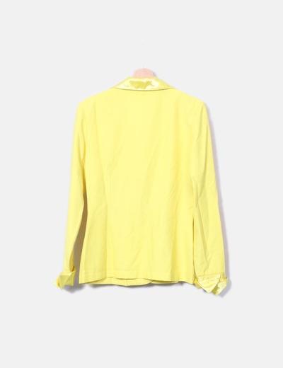Blazer amarilla combinada