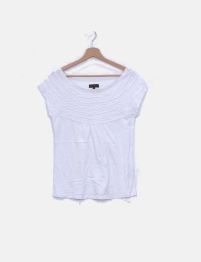 Camiseta blanca detalle plisado