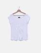 Camiseta blanca detalle plisado Adolfo Dominguez