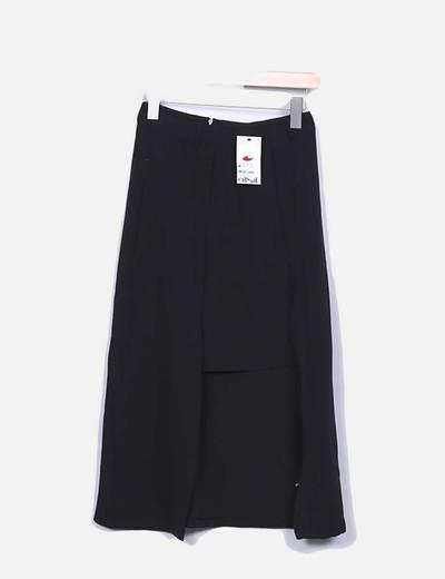 Falda negra asimétrica Suiteblanco