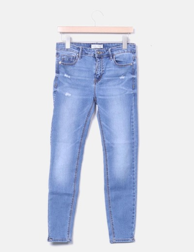 Jeans pitillo high waist