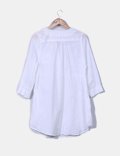 Camisola blanca de manga francesa