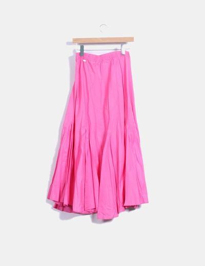 Falda maxi rosa