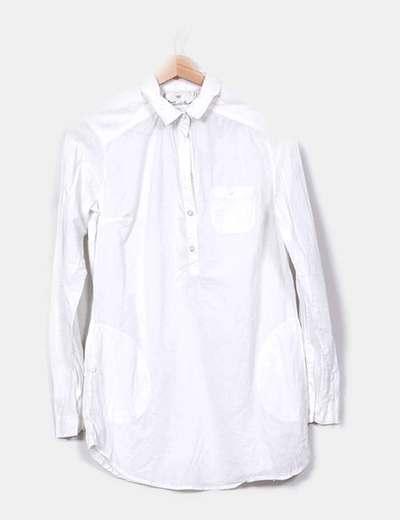 Blusón blanco Bershka