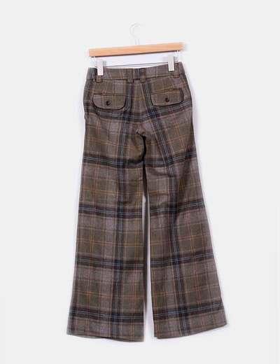 Pantalon de cuadros acampanado