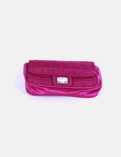 Bolso rosa fucsia detalle cierre Eferri
