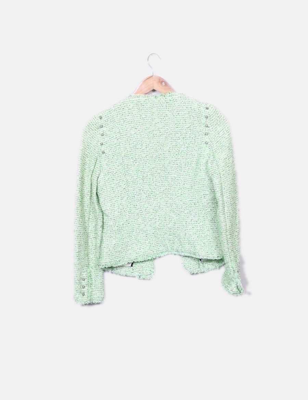 4ba049ad7 y online tachas Blazer jaspeada Mujer Abrigos Chaquetas baratos Zara ...