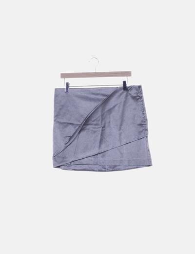 Falda mini metalizada