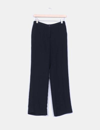Pantalon noir en twill droite El Corte Inglés