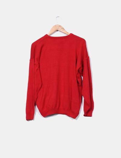 Jersey rojo cuello redondo