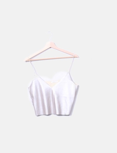Top metallic crop Zara